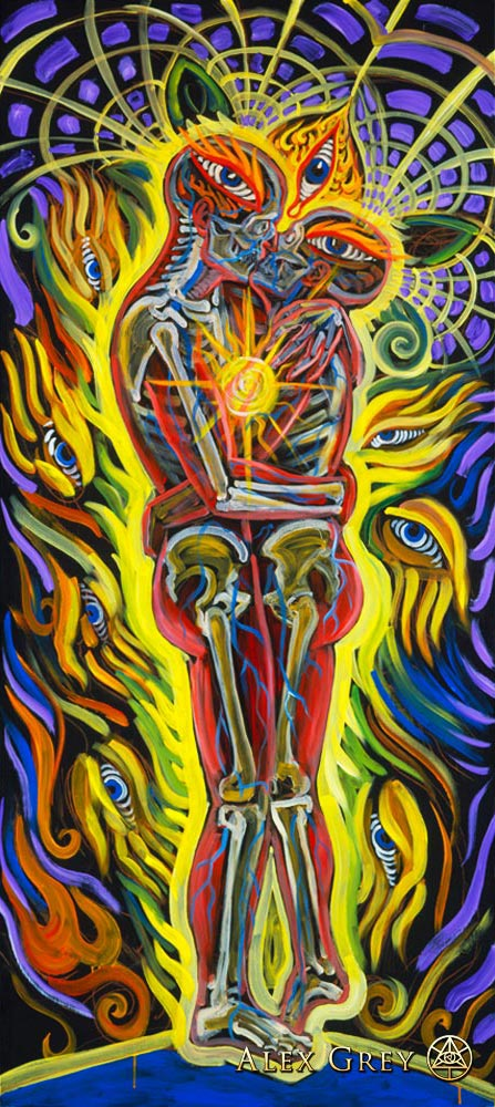 Alex Grey, Third Force, 2005, acrylic on wood, 36 x 84 inch, www.alexgrey.com